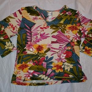 3/4 sleeve plus.size top